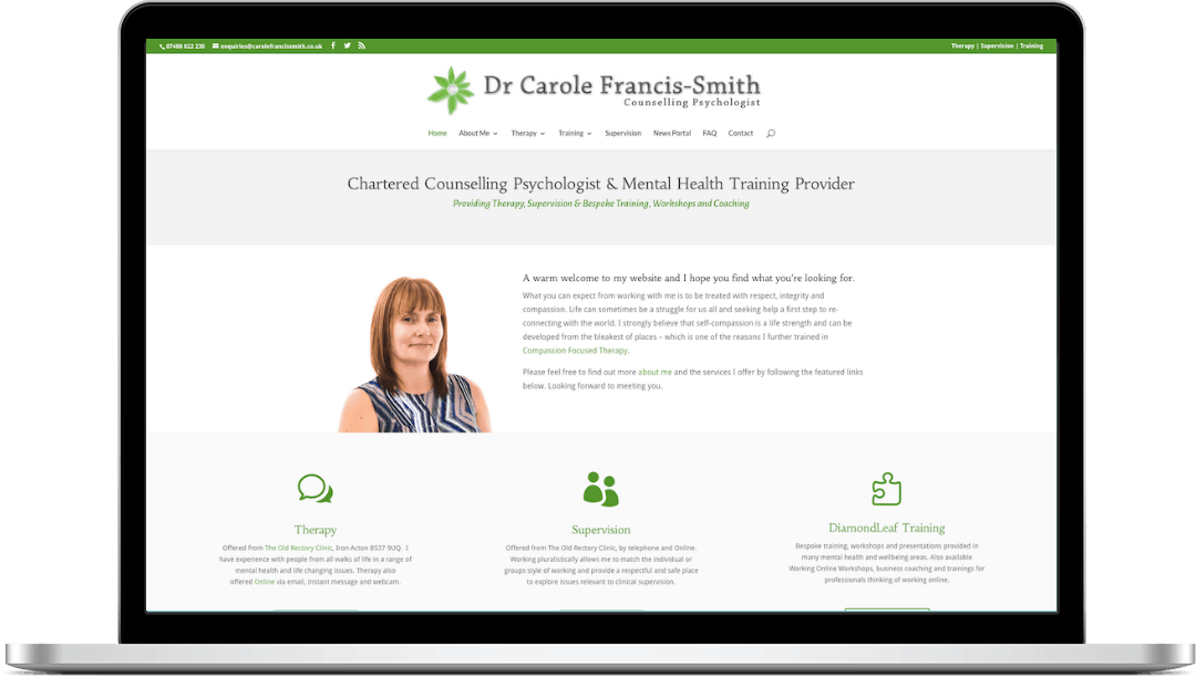 Website Example - Dr C Francis-Smith, Counselling Psychologist