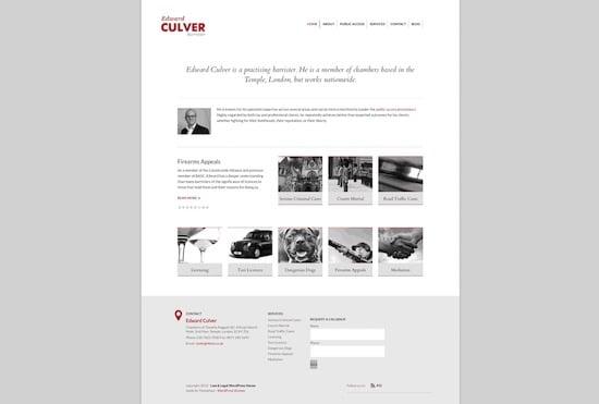Edward Culver - Barrister Website
